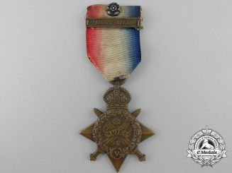 A 1914 Star with Mons Clasp and Rosette to Private W.J. Crotty; Royal Marine Brigade