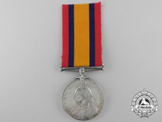 A Queen's South Africa Medal to the Royal Marines; H.M.S. Monarch; Wounded