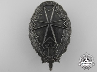 A Rare Freikorps Badge of the Selbstschutz Batallion Wolf