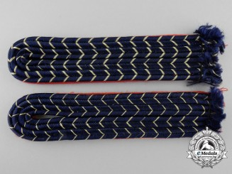 A Set of Reichsbahn Shoulder Board Pair for Officials of Pay Groups 17a and 17