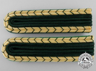A Set of German Forestry Shoulder Board Pair