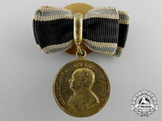 A First War Miniature Bavarian Golden Bravery Medal