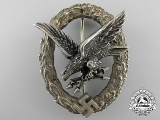 Germany. A Luftwaffe Radio Operator & Air Gunner Badge by C.E.Juncker