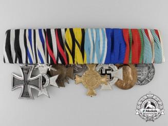 A First War German Medal Bar of Eight Awards & Decorations