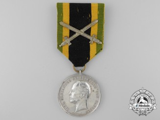 An 1870-71 Saxe-Weimar War Merit Medal with Swords