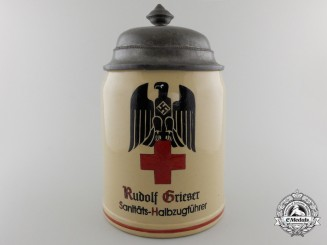 A Second War German Red Cross Award Stein