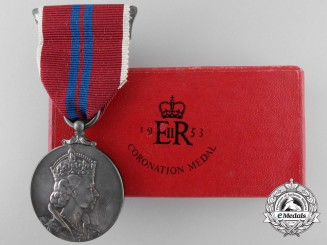 A Elizabeth II Coronation Medal 1953; Boxed and Named