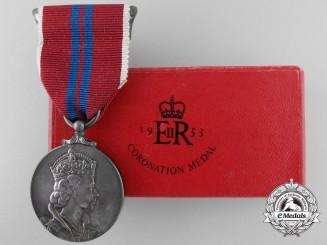 A Elizabeth II Coronation Medal 1953; Boxed and Named