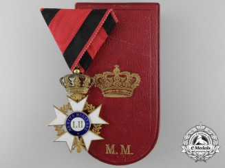Italian States, Tuscany. An Order of Military Merit, Knight's Badge in Gold, by Rothe