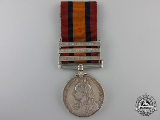 A Queen's South Africa Medal to the Sherwood Foresters (Derbyshire Regiment)