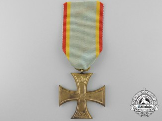 An 1900 Mecklenburg Military Merit Cross; Second Class