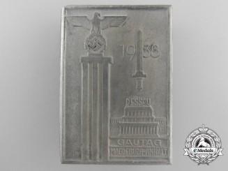 Germany. A 1938 Magdeburg-Anhalt District Day Gathering at Dessau Badge