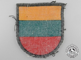 A Second War Lithuanian Volunteer's Arm Shield