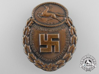 Germany. A NSDAP Day Badge; Gau-Traditionsabzeichen Osthannover 1933