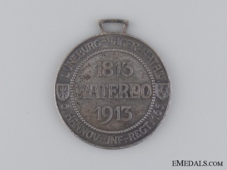 A 1813-1913 Hannover Regimental Waterloo Medal