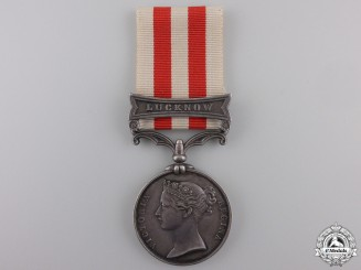 A 1857-58 India Mutiny Medal to the 13th Light Inf. Regiment of FtCon #41