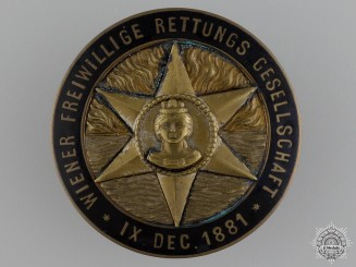 Austria, Imperial. An 1881 Life Saving Badge