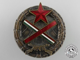 A Hungarian Partisans Badge; Numbered
