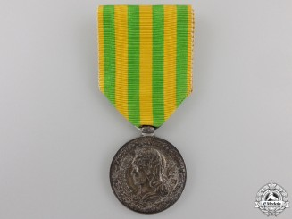 A 1883-1885 French Tonkin Campaign Medal; Navy Version
