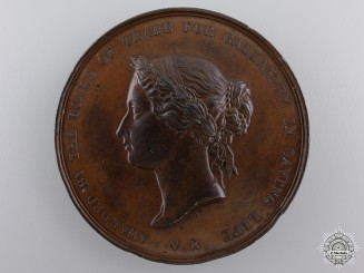 A 1886 Sea Gallantry Medal for Rescue  of the Schooner Betsey