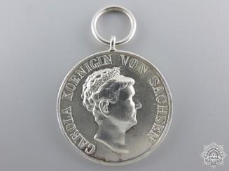 A 1892 Saxon Silver Carola Medal