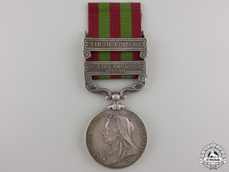 A 1895-1902 India Medal to the Royal Artillery