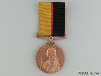 A 1896-97 Queen's Sudan Medal; Bronze Version