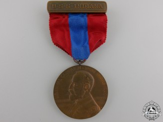 United States. A 1898 Naval West Indies Campaign Medal to USS Indiana