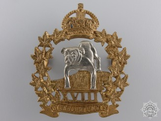 A 18th Manitoba Mounted Rifles Officer Cap Badge