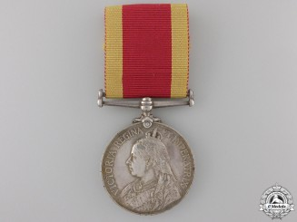 A 1900 China War Medal to Gunner Charles McCoy, Royal Navy Con #41
