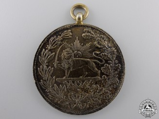 A 1901 Iranian Medal for Bravery (Military Valour); 2nd Class