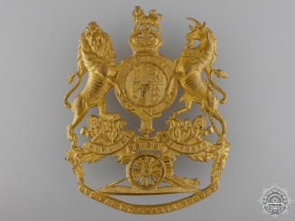 A 1902 Royal Artillery Officer's Helmet Plate