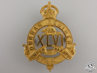 A 1904-1917 46th Durham Regiment Officer's Cap Badge