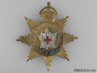 A 1908 Canadian Army Medical Corps Helmet Plate
