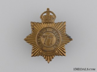 A 1910 77th Wentworth Regiment Cap Badge