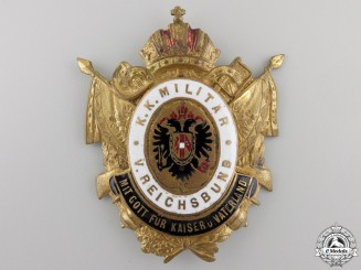 A 1910 Austrian Shako Badge