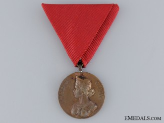 A 1912 Serbian Medal for Bravery; Gold Grade