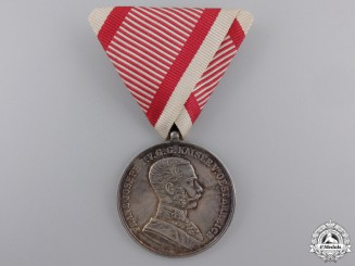 A 1914-1916 Austrian Bravery Medal; Silver Grade 1st Class