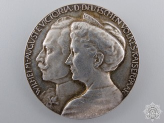 A 1914 Kaiser Wilhelm II Wedding Anniversary Medal
