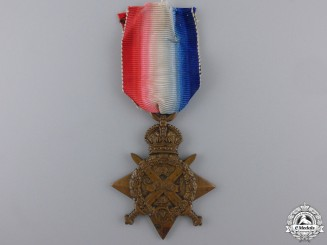 A 1914 Star to Col. Sergt. of Rifle Brigade; Gallipoli KIA
