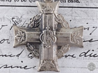 A 1916 Canadian Memorial Cross the Son of the Count del Monaco
