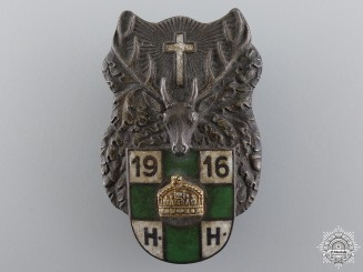A 1916 Hungarian St.Hubert Badge
