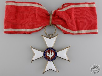Poland. An Order of Polonia Restituta; Commander's Cross