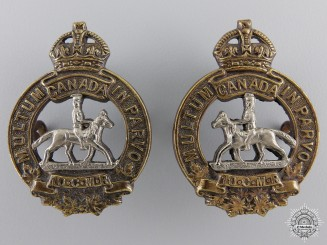 Canada. A 1920-36 Manitoba Horse Officer Collar Badges