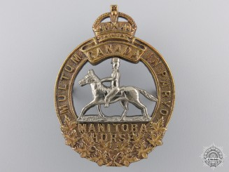 A 1920-36 Manitoba Horse Officer Cap Badge