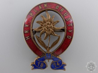 A 1920 Croatian Alpine Organization Badge