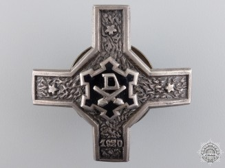 A 1920 Latvian Coastal Artillery Badge