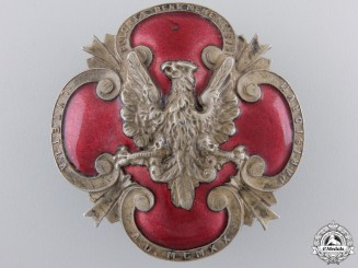 A 1920 Polish Plebiscite Zone Forces Badge
