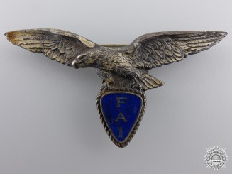 A 1920's French FAI Pilot's Badge