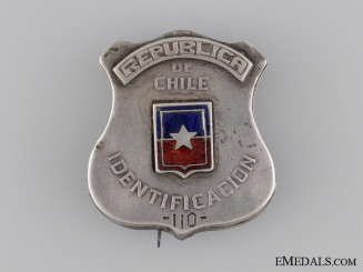 A 1920's Republic of Chile Police Badge